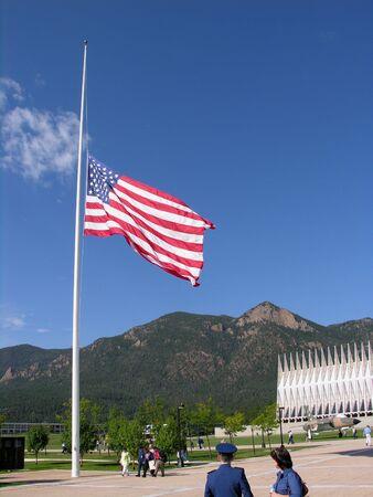 Flag lowered to Half Staff Stock fotó