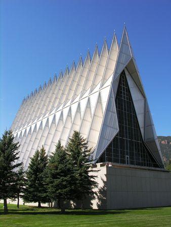 Military base church building.