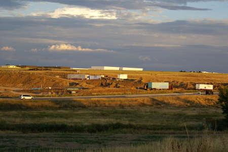 Commercial construction site.