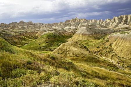 south dakota: Grassy Hills in the Badlands of south Dakota