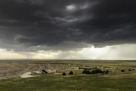 south dakota: Storm Over The Badlands of south dakota