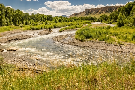 Wyoming Stream in the high plains country
