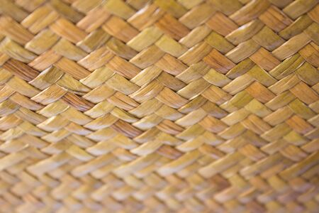 wickerwork: A taxtures of thailand Hand mand basketry