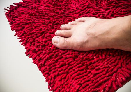 doormat: the foot clean doormat Stock Photo