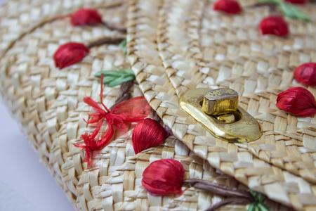 wickerwork: The textures of basketry Stock Photo