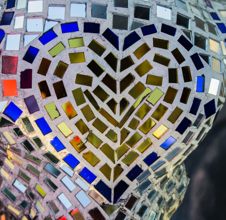 old church: The many color of mosaic glass textures