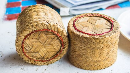 basketry: The detail of thailand hand made basketry textures