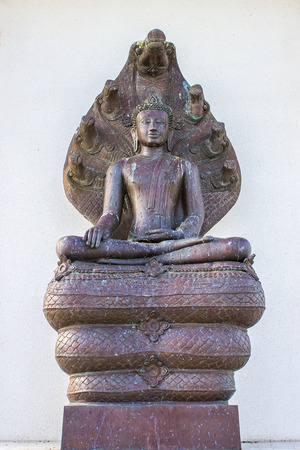 backgroung: The thai buddha on the white backgroung