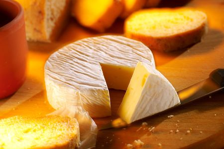 Small loaf of french cheese camembert Stock Photo