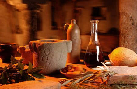 Mediterranean cellar                          Stock Photo