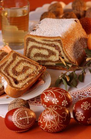 Chestnut cake for easter                                Stock Photo