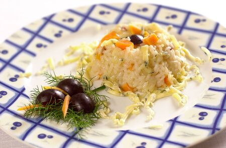 Risotto with papaya fruit