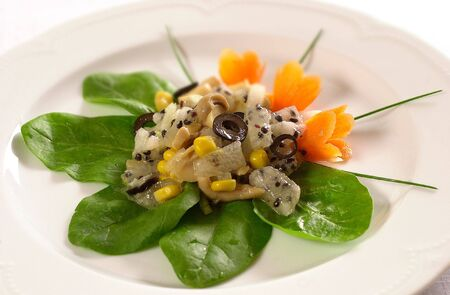 Salad with passion fruit                              Stock Photo