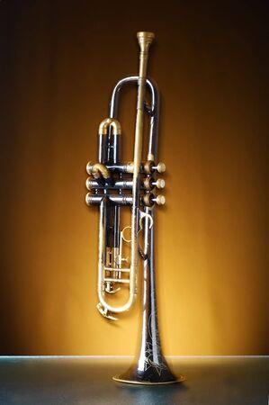 An old brass instrument