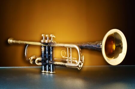 An old brass instrument