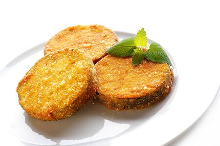 Fried aubergines Stock Photo - 3982622