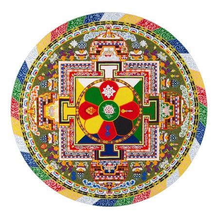 monjes: Mandala tibetano Foto de archivo