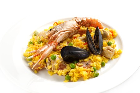 Traditional Spanish food � Paella Stock Photo