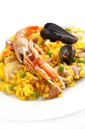 Traditional Spanish food – Paella Stock Photo