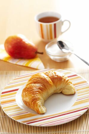 French croissant for breakfast Stock Photo - 3982768