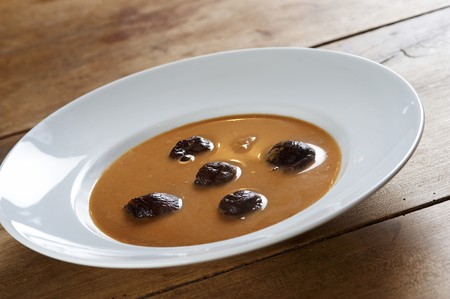 Traditional plum soup