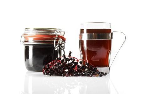Elder berry juice, fruit and drink