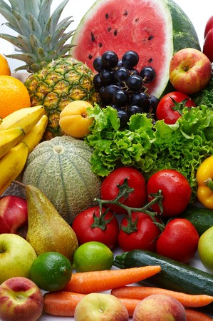Group of different fruit and vegetables Stock Photo - 4034015