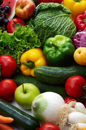 Group of different fruit and vegetables Stock Photo - 4034008