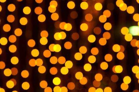 Blurred christmas decoration lights in the night