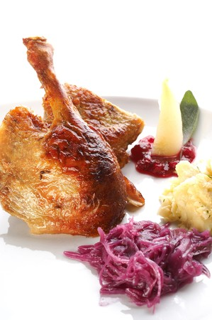 Roasted duck with chinese cabbage