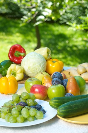 Group of different fruit and vegetables Stock Photo - 4047973