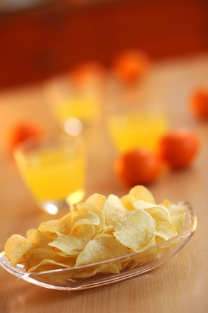 Potato chips for snack Stock Photo - 4047975