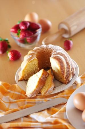 Pastel de galletas frescas para la comida Foto de archivo - 4065086