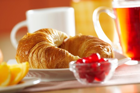 Fresh French croissant for breakfast Stock Photo - 4065261
