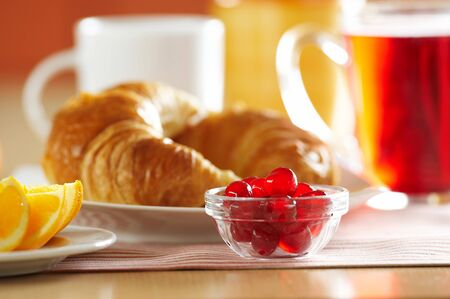 Fresh French croissant for breakfast Stock Photo - 4065255