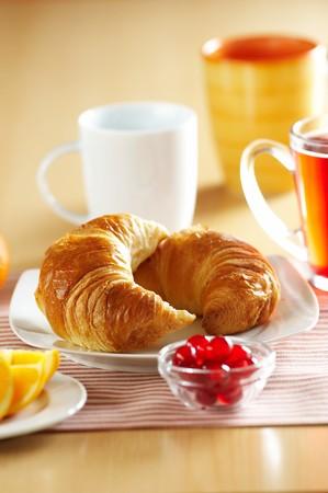 Fresh French croissant for breakfast