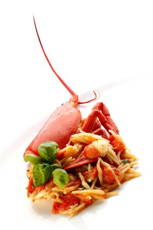 Boiled lobster on white plate Stock Photo - 4065246