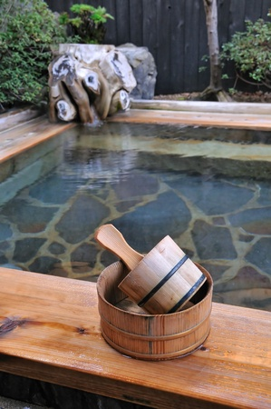open air: Japanese open air hot spa