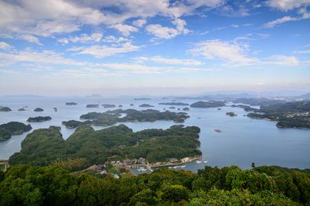 nagasaki: 99 islands in Sasebo, Nagasaki, Japan. Stock Photo
