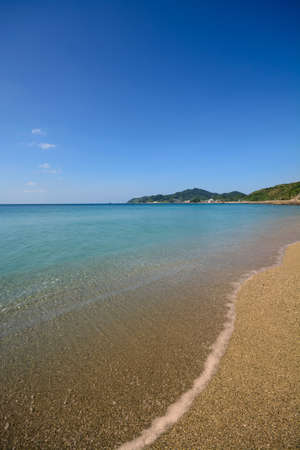 nagasaki: Wakimisaki beach in Nagasaki, Japan. Stock Photo