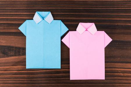 trad: Japanese paper origami shirts