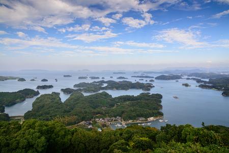 99: 99 islands in Sasebo, Nagasaki, Japan. Stock Photo