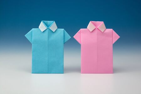 in  shirt: Camisas de origami de papel japon�s