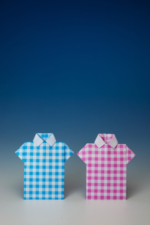 Japanese paper origami shirts
