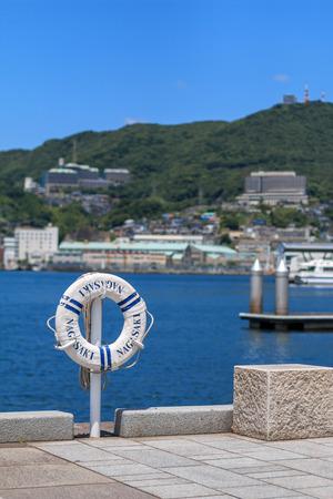 View of Nagasaki bay Standard-Bild