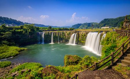 Harajiri waterfall in Oita, Japan