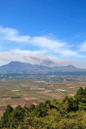 Mount Aso in Kumamoto, Japan Standard-Bild