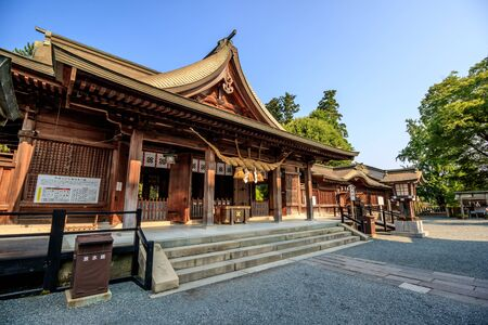 architectural tradition: Aso shrine in Kumamoto, Japan