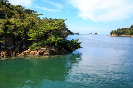 Ninety Nine islands in Sasebo, Nagasaki, Japan. Standard-Bild
