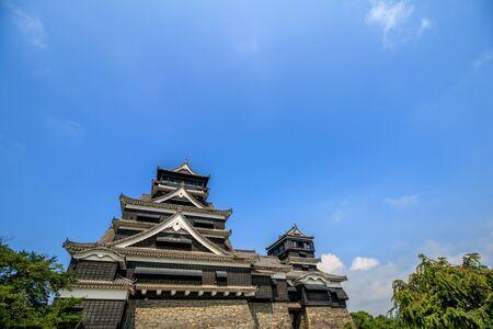 Kumamoto castle in Kumamoto, Japan. Editorial
